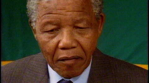 nelson mandela death: sir trevor mcdonald tribute; 14.2.1990 / t14029006 nelson mandela interview sot - i am no prophet but i am certainly an... - politics and government stock videos & royalty-free footage