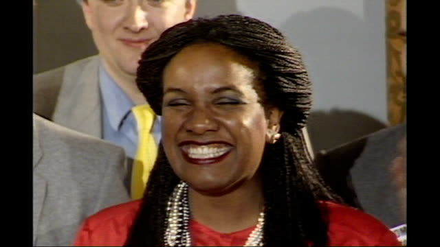 uk reaction diane abbott memories file 1161987 / 143185 hackney int diane abbott announced as newlyelected mp for hackney north and stoke newington... - diane abbott stock videos & royalty-free footage