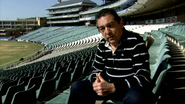 nelson mandela dies reaction ali bacher interview sot - itv news at ten stock videos & royalty-free footage