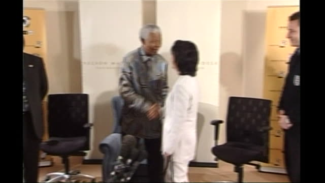 nelson mandela greeting the england national football squad - goalkeeper stock videos & royalty-free footage
