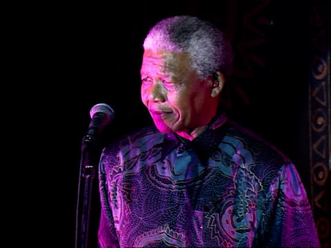 nelson mandela making a speech nelson mandela visits his old prison cell on robben island nelson mandela was imprisoned on robben island for18 years... - nelson mandela stock videos and b-roll footage