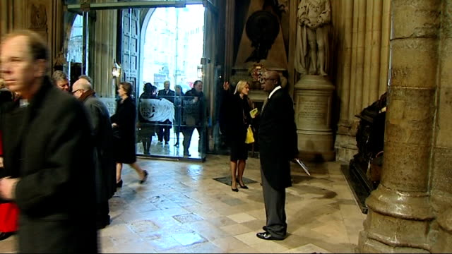 nelson mandela memorial service at westminster abbey arrivals england london westminster westminster abbey photography*** gvs people inside... - floella benjamin stock videos & royalty-free footage
