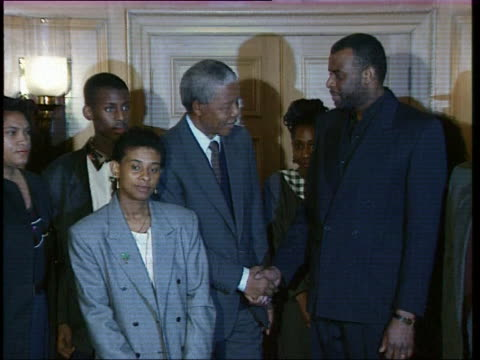 nelson mandela poses with family of stephen lawrence for press - 1993 stock videos & royalty-free footage