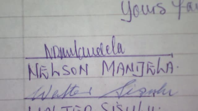 nelson mandela prison letters chart his struggle behind bars south africa nelson mandela's granddaughter zamaswazi dlaminimandela reads from nelson... - itv news at ten stock-videos und b-roll-filmmaterial