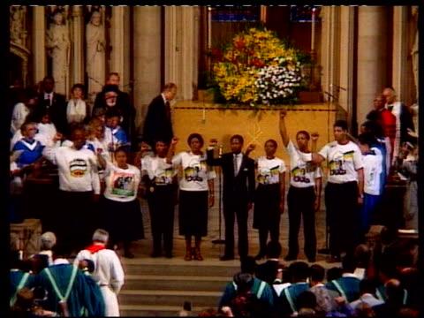Nelson Mandela Visits New York City Nelson Mandela Speaks at Riverside Church at Riverside Church on June 20 1990 in New York New York