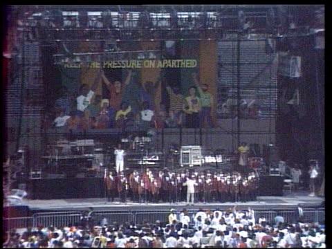 Nelson Mandela Visits New York City Nelson Mandela Speaks to 200000 people in Harlem on June 20 1990 in New York New York