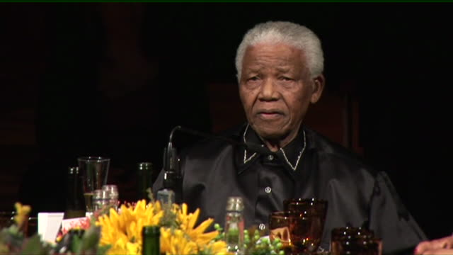 nelson mandela's speech at his 90th birthday celebrations - cultures stock videos & royalty-free footage