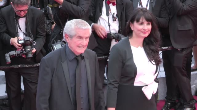 Nelson Monfort Claude Lelouch Vanessa Redgrave James Ivory and more on the red carpet for the Premiere of Money Monster at the Cannes Film Festival...