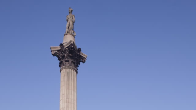 nelson's column and trafalgar square, london. - nelson's column stock videos & royalty-free footage