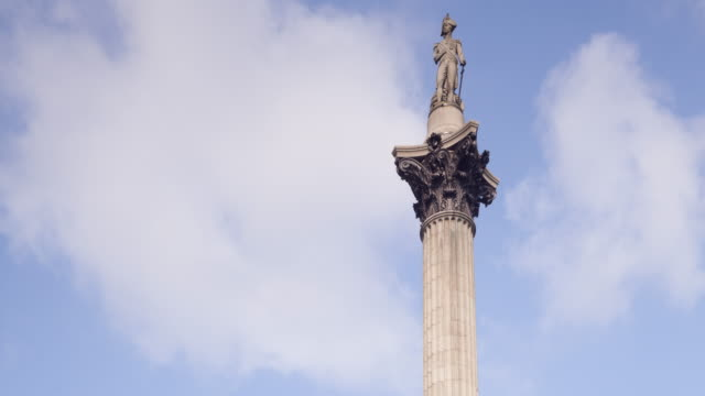 Nelson's Column in Trafalgar Square, London.