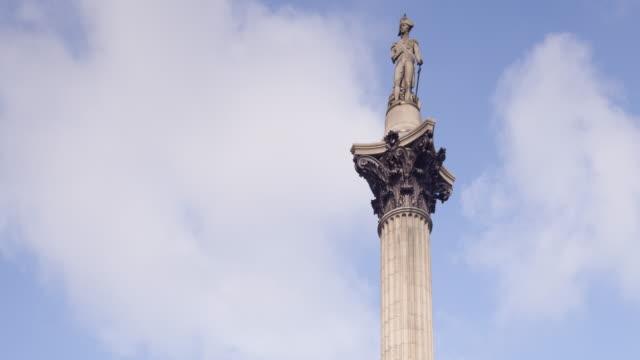 nelson's column in trafalgar square, london. - nelson's column stock videos & royalty-free footage