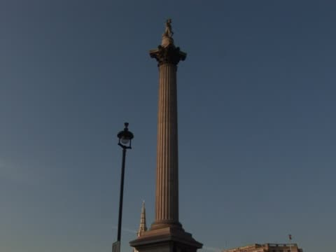 nelson's column, london (2) - nelson's column stock videos and b-roll footage