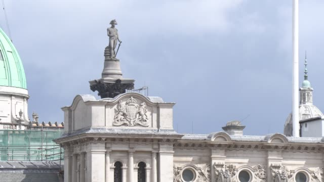 nelson's column on june 08 2019 in london england - nelson's column stock videos and b-roll footage