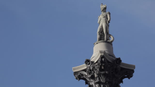 nelson's column, trafalgar square, westminster, london, england, uk - nelson's column stock videos and b-roll footage