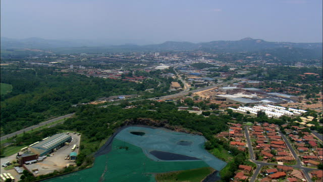 nelspruit - aerial view - mpumalanga,  ehlanzeni district,  mbombela,  south africa - mpumalanga province stock videos and b-roll footage