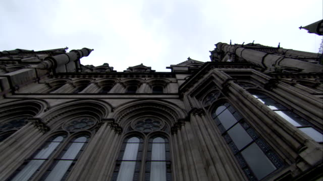 Neo-Gothic architecture characterizes Manchester Town Hall. Available in HD.