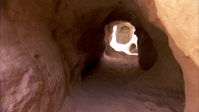 Neolithic copper mines in Israel's Timna Valley. Available in HD