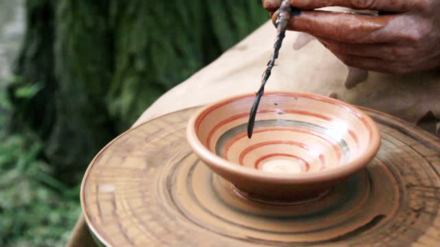 neolithic painting clay pot