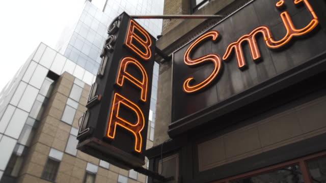 Neon bar light - establishing shot - New York City - summer 2016