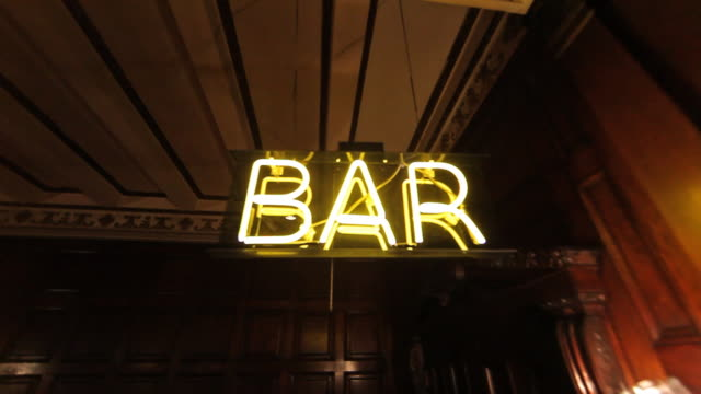 neon bar sign - bar stock videos & royalty-free footage