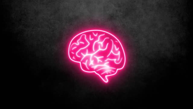 neon brain - human brain stock videos & royalty-free footage