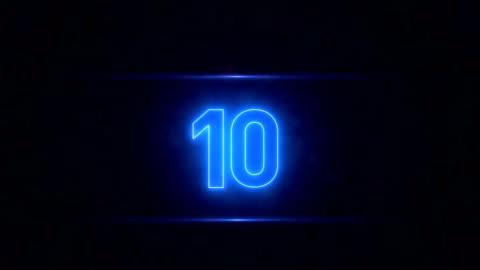 neon-countdown - 10 sekunden oder länger stock-videos und b-roll-filmmaterial