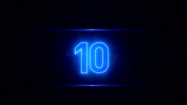 neon countdown - 10 seconds or greater stock videos & royalty-free footage