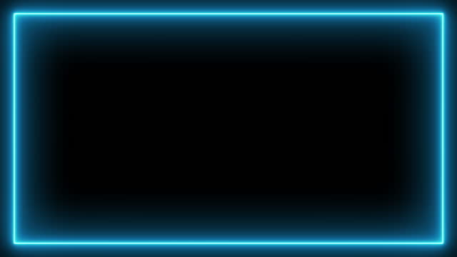 neon effect rectangle frame loop background 4k - picture frame stock videos & royalty-free footage