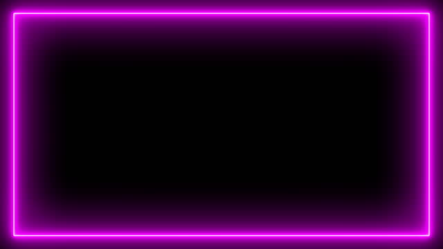 neon effect rectangle frame loop background 4k - glowing stock videos & royalty-free footage