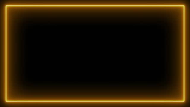vidéos et rushes de effet néon rectangle cadre boucle arrière-plan 4k - star shape