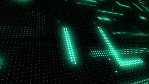 vídeos y material grabado en eventos de stock de fondo led de fibra óptica de neón (loopable) - luz led