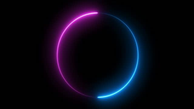 vidéos et rushes de cercle de feu de néon - laser