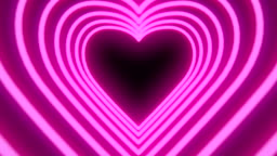 Neon heart tunnel