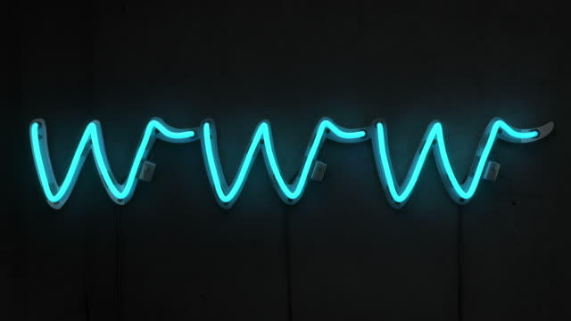 Neon Worte-www Blue & White Glow (Full HD)