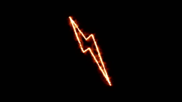 4k neon lightning bolt animation \loopable - bolt stock videos & royalty-free footage