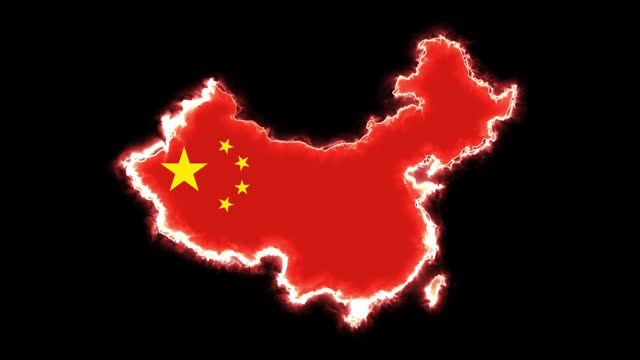 4k neon lights and china map - country geographic area stock videos & royalty-free footage