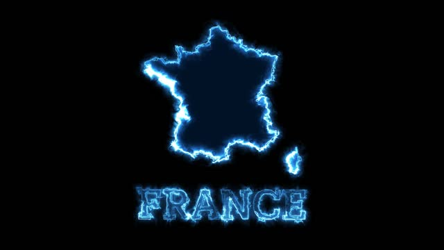 4k neon lights and france map - 4k resolution stock videos & royalty-free footage