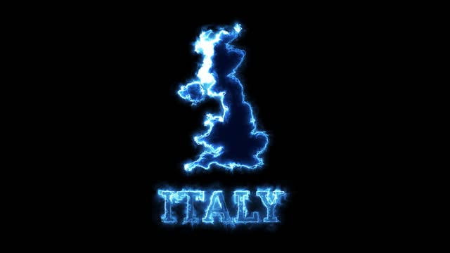 4k neon lights and italy map - country geographic area stock videos & royalty-free footage
