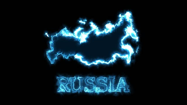 4k neon lights and russia map - continent geographic area stock videos & royalty-free footage