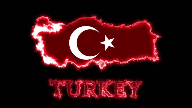 4k neon lights and turkey map - prime minister stock videos & royalty-free footage