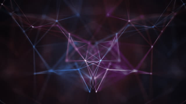 neon lines connection background - kaleidoscope pattern stock videos & royalty-free footage