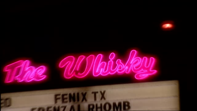 Neon Pink The Whiskey Sign and Exterior at Night in Los Angeles