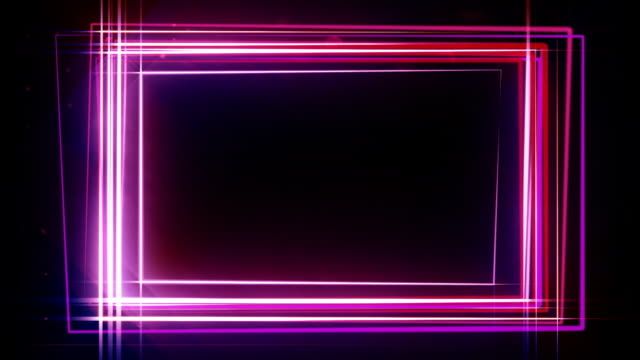 neon rectangle frame hd - border stock videos & royalty-free footage