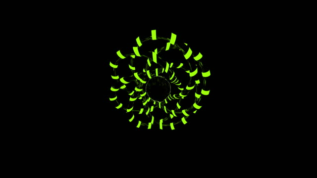 neon rings of multicolored dotted lines wriggle - wire stock videos & royalty-free footage