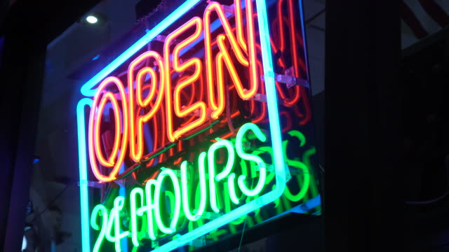 neon sign - fluorescent stock videos & royalty-free footage