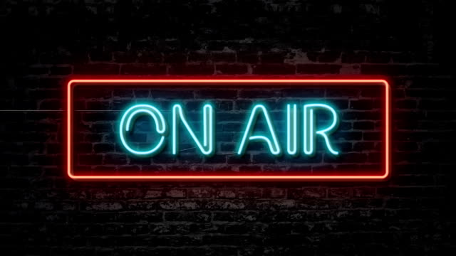 on air neon sign - arts culture and entertainment stock videos & royalty-free footage