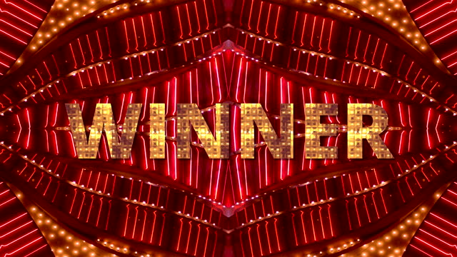 neon sign - winner - nightclub stock videos & royalty-free footage