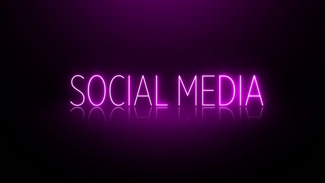 4k neon social media text - following stock videos & royalty-free footage