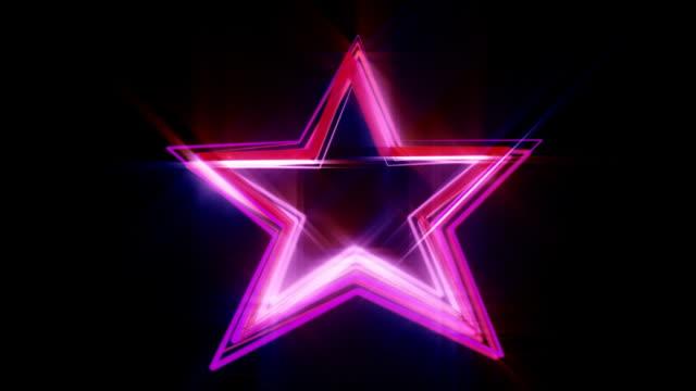 Neon star scribble HD