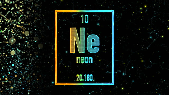 Neon Periodic Table Videos And B Roll Footage Getty Images